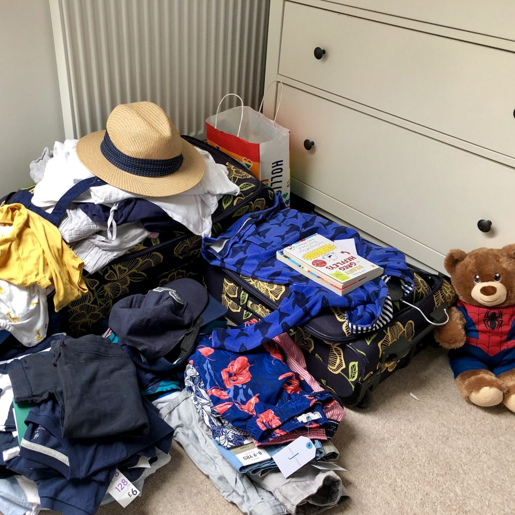 Packing for holidays. What an adventure!