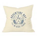 AB Teepee Badge Natural Throw Cushion