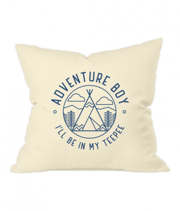 AB Teepee Badge Natural Throw Cushion