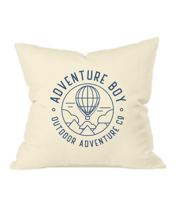 AB Balloon Badge Natural Throw Cushion