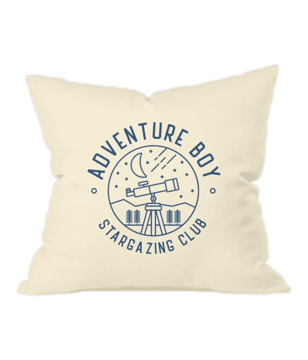 AB Stargazing Badge Natural Throw Cushion