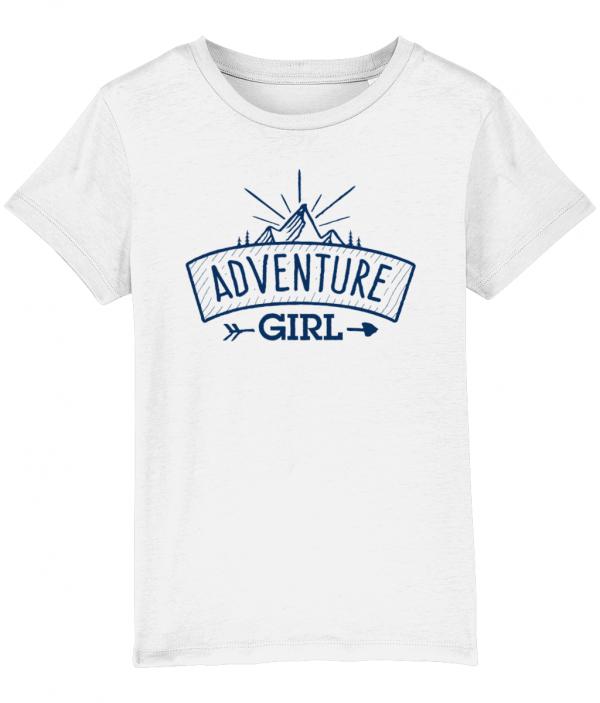 Adventure girl logo tee white