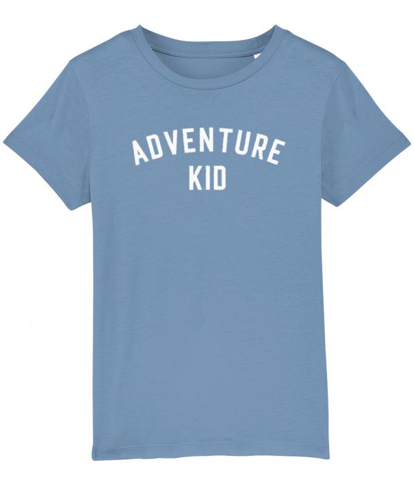 Adventure Kid Tee Mid Heather Blue