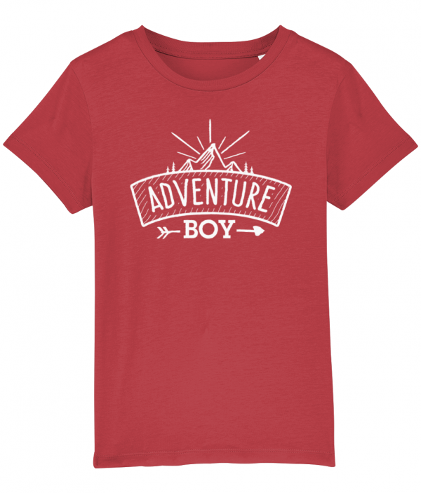 Adventure Boy logo tee red
