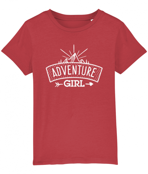 Adventure Girl logo tee red