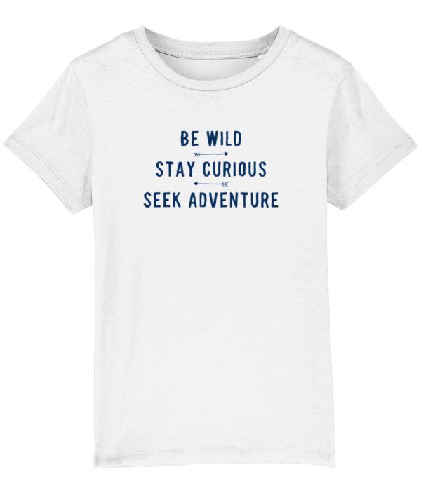 Wild and Curious tee white