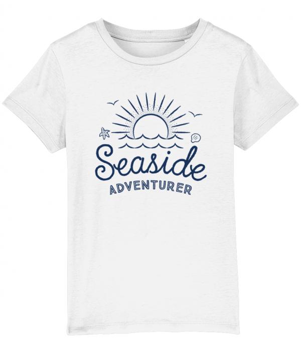 Seaside Adventurer Kids Tee Blue/White