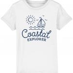 Coastal Explorer Kids Tee Blue/White